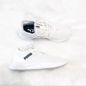 Puma White Mesh Running Shoes